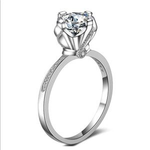 925 Sterling Silver 1Carat Wedding Engagement Ring